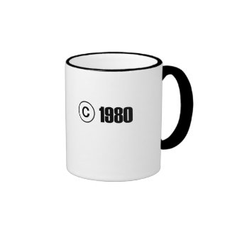 1980 Copyright Ringer Mug