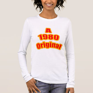 1980 Original Red Long Sleeve T-Shirt