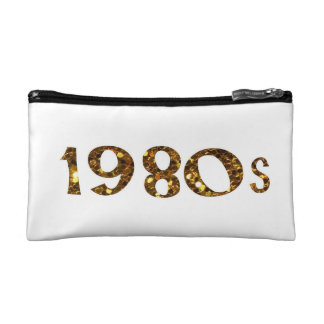1980s & 1990s Nostalgia Gold Glitter double-sided Cosmetic Bag
