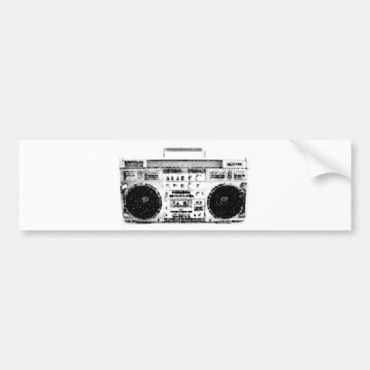 1980s Boombox Bumper Sticker