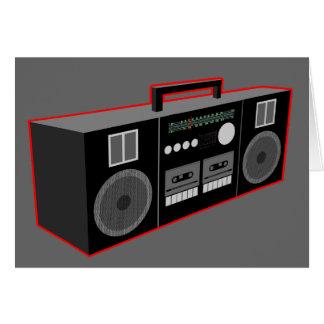 1980s Boombox Card