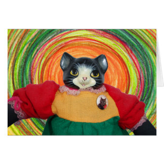 1980s Cat Doll Birthday Card