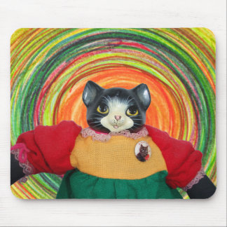 1980s Cat Doll mouse pad