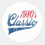 1980's Classic Birthday Classic Round Sticker