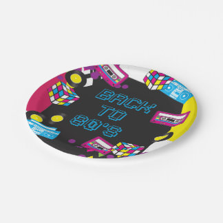 1980s Totally Awesome Party Paper Plates