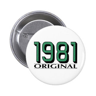 1981 Original 6 Cm Round Badge
