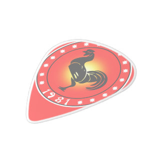 1981 Year of the Rooster White Delrin Guitar Pick