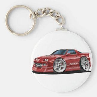 1982-92 Camaro Maroon Car Key Ring