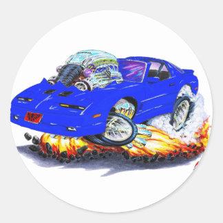 1982-92 Trans Am Blue Car Round Sticker