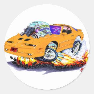1982-92 Trans Am Orange Car Round Sticker