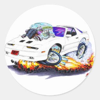 1982-92 Trans Am White Car Round Sticker