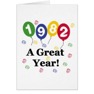 1982 A Great Year Birthday Greeting Card