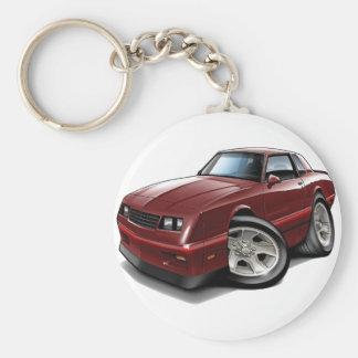 1983-88 Monte Carlo Maroon Car Basic Round Button Key Ring