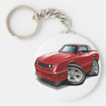 1983-88 Monte Carlo Red Car Basic Round Button Key Ring