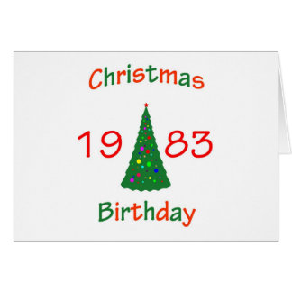 1983 Christmas Birthday Greeting Card