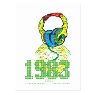 1983 Headphone Postcard