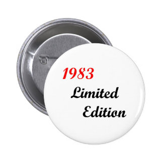 1983 Limited Edition 6 Cm Round Badge