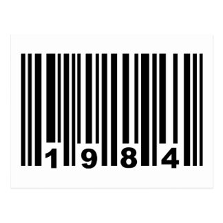 1984 barcode postcard