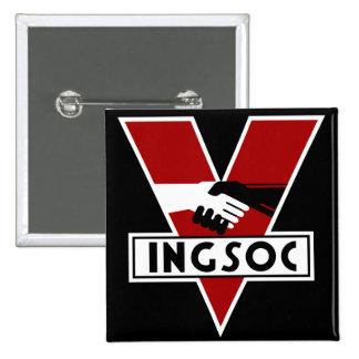 1984 Ingsoc 15 Cm Square Badge