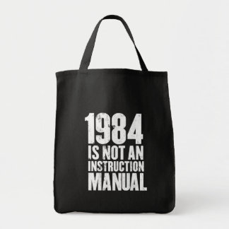 1984 is Not an Instruction Manual Grocery Tote Bag