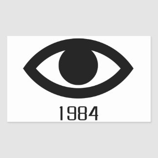 1984 RECTANGULAR STICKER