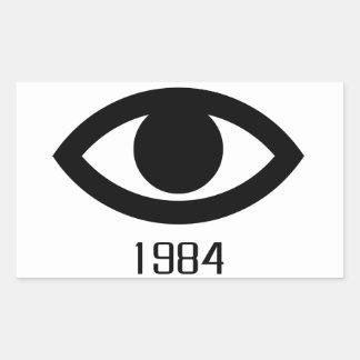 1984 RECTANGULAR STICKER