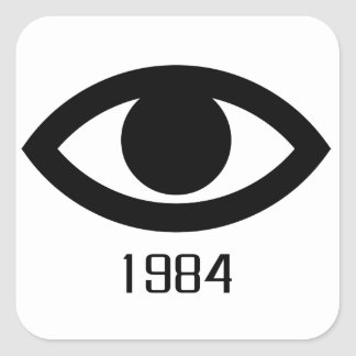 1984 SQUARE STICKER