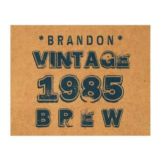 1985 30th or Any Birthday VINTAGE BREW Gold J30Z Cork Paper Print