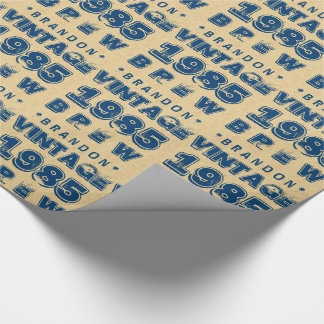 1985 30th or Any Birthday VINTAGE BREW Gold J30Z Wrapping Paper