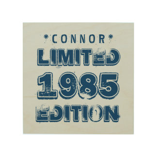 1985 or Any Year Birthday Limited Edition 30th V5Z Wood Canvases