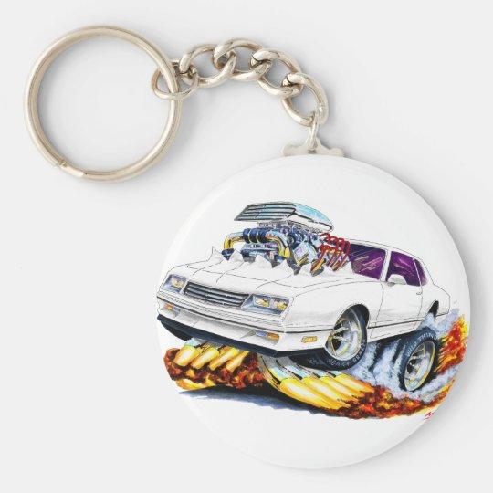 1986-88 Monte Carlo White Car Key Ring