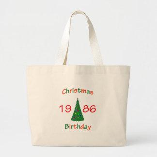 1986 Christmas Birthday Jumbo Tote Bag