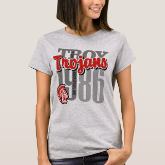 1986 Troy Trojans Woman's Light Tee