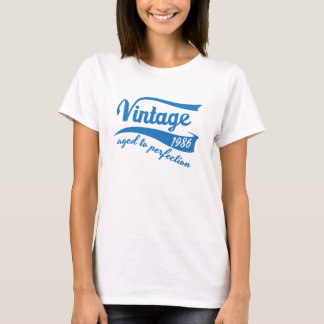 1986 Vintage Aged to Perfection 30th birthday gift T-Shirt