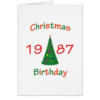 1987 Christmas Birthday Greeting Cards