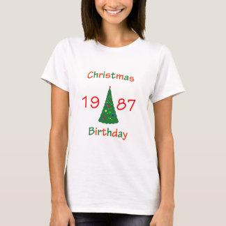 1987 Christmas Birthday T-Shirt