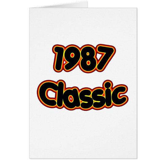 1987 Classic Card