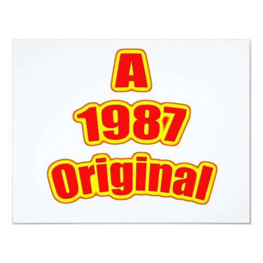 1987 Original Red Card