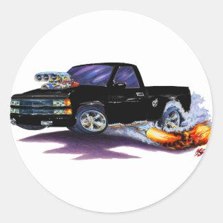 1988-98 Silverado Black Truck Round Sticker