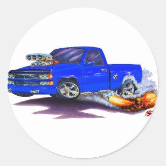 1988-98 Silverado Blue Truck Round Sticker