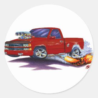 1988-98 Silverado Maroon Truck Stickers
