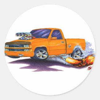 1988-98 Silverado Orange Truck Round Sticker