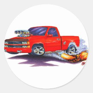 1988-98 Silverado Red Truck Round Sticker
