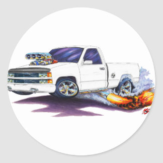 1988-98 Silverado WhiteTruck Round Sticker