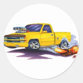 1988-98 Silverado Yellow Truck Round Sticker
