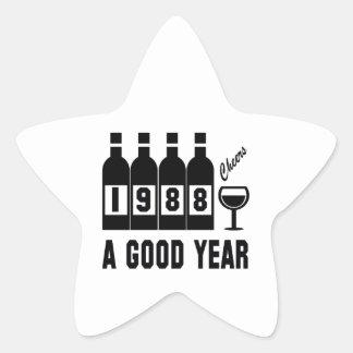 1988 A Good Year Star Sticker