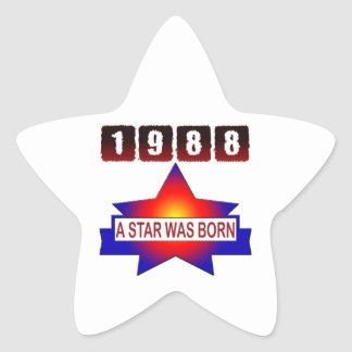 1988 A Star Was Born Star Stickers