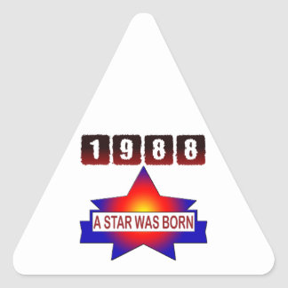 1988 A Star Was Born Triangle Stickers