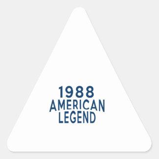 1988 American Legend Birthday Designs Triangle Sticker