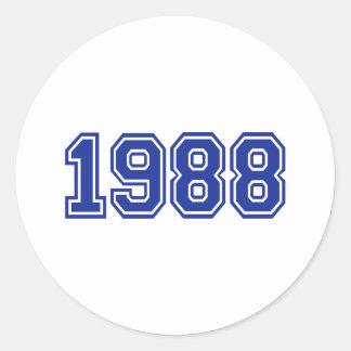 1988 Birthday Round Stickers